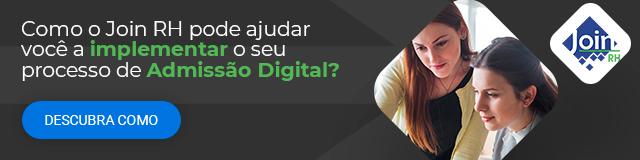"""Banner preto com a frase """"Como o Join RH pode ajudar você a implementar o seu processo de Admissão Digital?"""" e botão """"Descubra Como""""."""